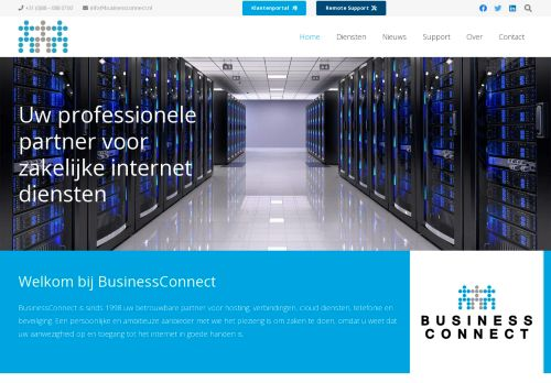 Website screenshot BusinessConnect BV
