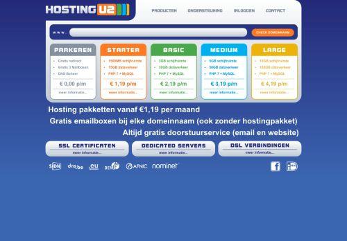 Website screenshot HostingU2
