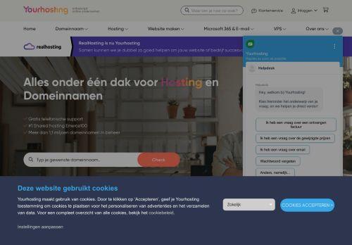 Website screenshot RealHosting