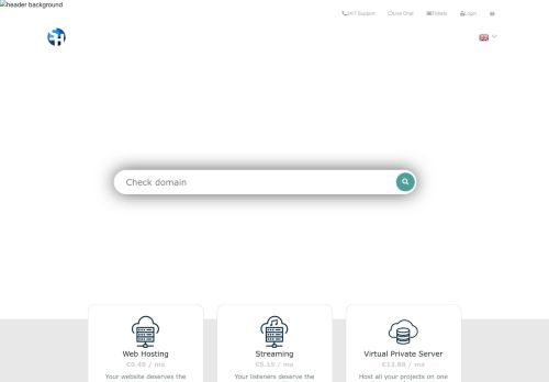 Website screenshot Supreme Hosting