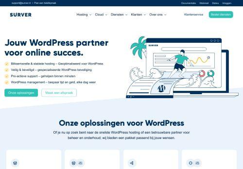 Website screenshot Surver