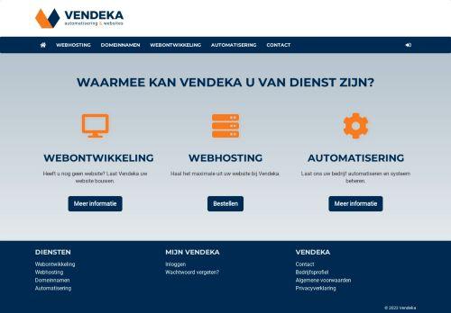 Website screenshot Vendeka
