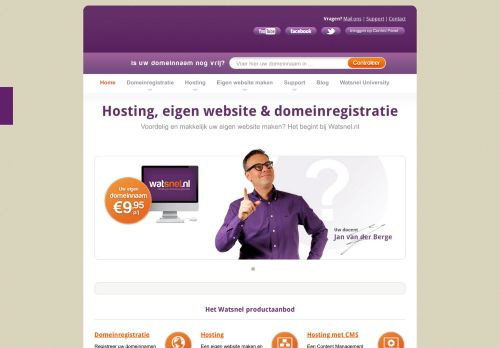 Website screenshot Watsnel Hosting