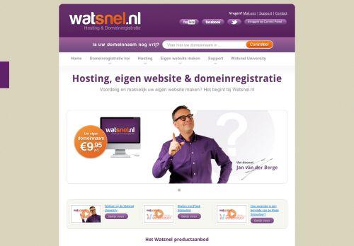 Website screenshot Watsnel Hosting