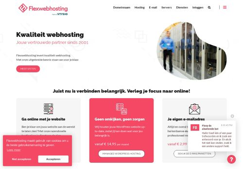 Website screenshot Flexwebhosting