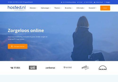 Website screenshot Hosted.nl