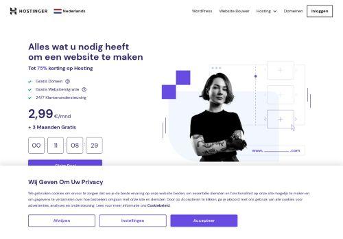 Website screenshot Hostinger