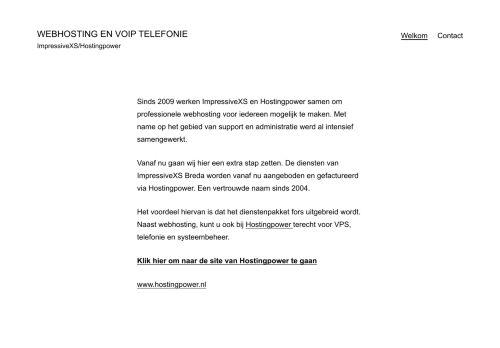 Website screenshot ImpressiveXS