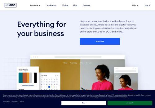 Website screenshot Jimdo