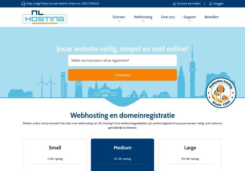 Website screenshot NL Hosting