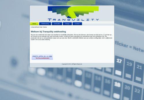 Website screenshot Tranquility webhosting BV