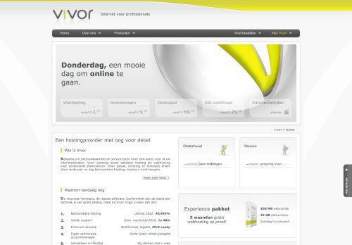 Website screenshot Vivor BV