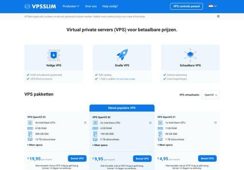 Website screenshot VPSslim