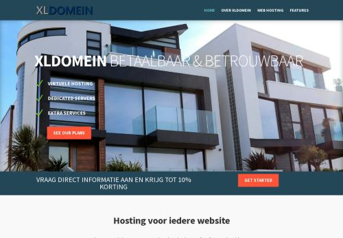 Website screenshot Xldomein