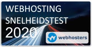 Webhosting snelheidstest 2020