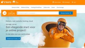 Website screenshot Strato