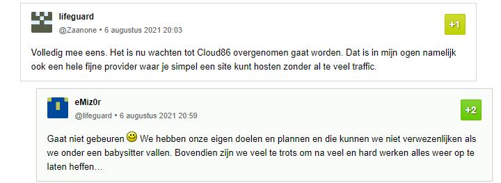 cloud86 gaat niet gebeuren