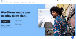 Website screenshot Bluehost